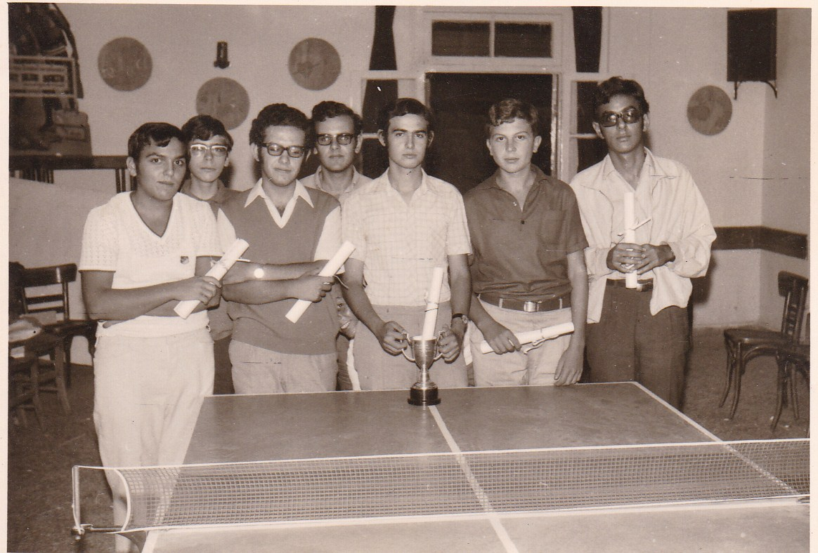 The community ping pong team - 1970